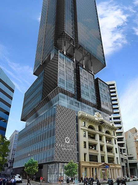ghd woodheads boxy adelaide tower dwarfs heritage facade