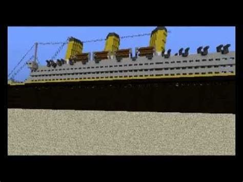 minecraft titanic sinking survival rms titanic to scale in minecraft minecraft