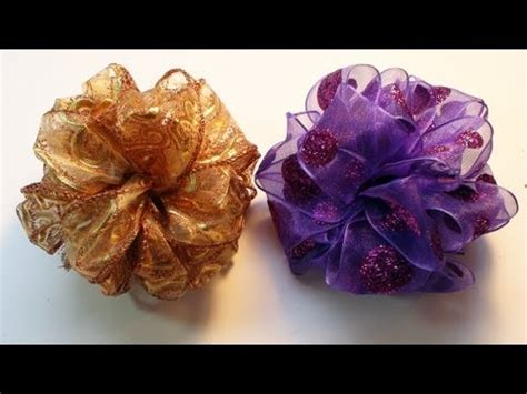diy     easy pom pom ribbon bow youtube