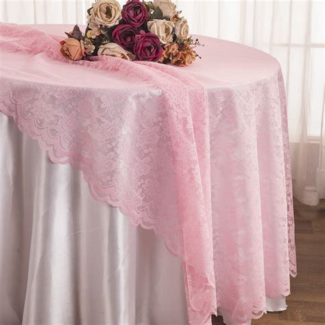round lace table overlays pink lace table overlays linens toppers round