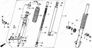 Honda Motorcycle 1989 Oem Parts Diagram For Front Fork