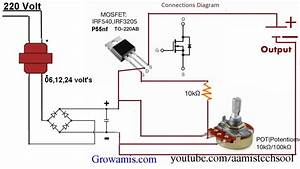 Variable Voltage Regulator Circuit Diagram