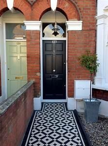 Black And White Victorian Mosaic Tile Path Balham London