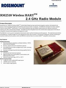 Rosemount Rm2510 Wireless Hart Industrial Process