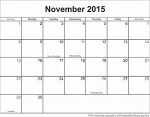november 2015 printable calendar template printable With 2015 calendar by month template