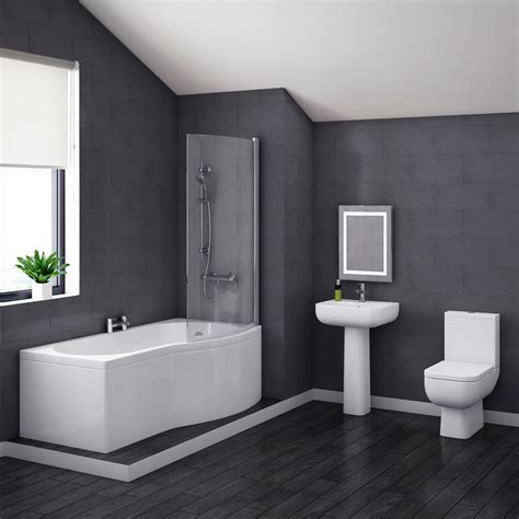 pro 600 modern shower bath suite at