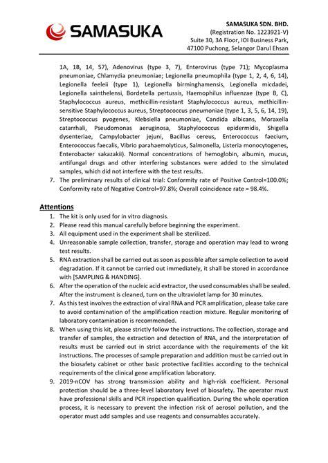COVID-19 RT-PCR Detection Kit – SAMASUKA