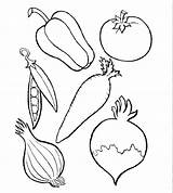 Coloring Pages Vegetables Fruits Vegetable Fruit Printable Colouring Print Getcolorings sketch template