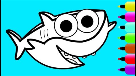 coloring pages baby shark bltidm