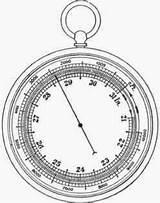 Barometer Aneroid Fig Science Sketch Properties Air Template Coloring Metal sketch template