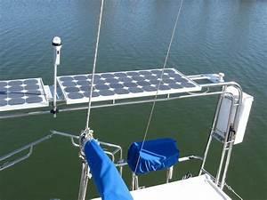 Sailboat Family  Seimens Solar Panels On Gemini 3200 Rear Arch