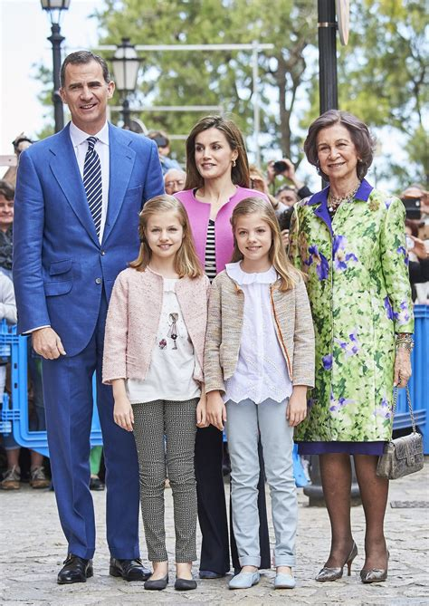 spanish royal family attends easter mass  mallorca