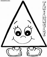 Triangle Coloring Pages Shape Printable Print Colorings Children sketch template