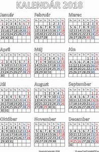 Kalendár 2018 tlač pdf PDF pre tlač zdarma