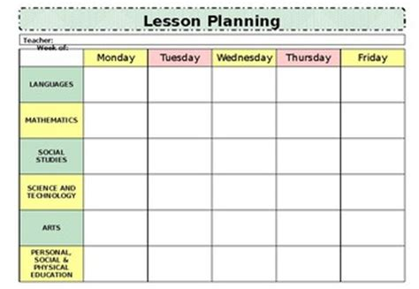 weekly lesson plan template   brave blocks tpt