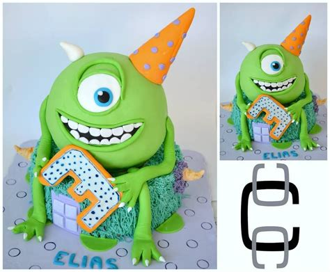 mike wazowski birthday party cake ideas monsters