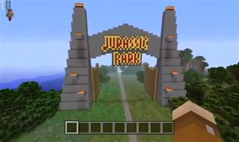 id   jurassic park recreated  minecraft