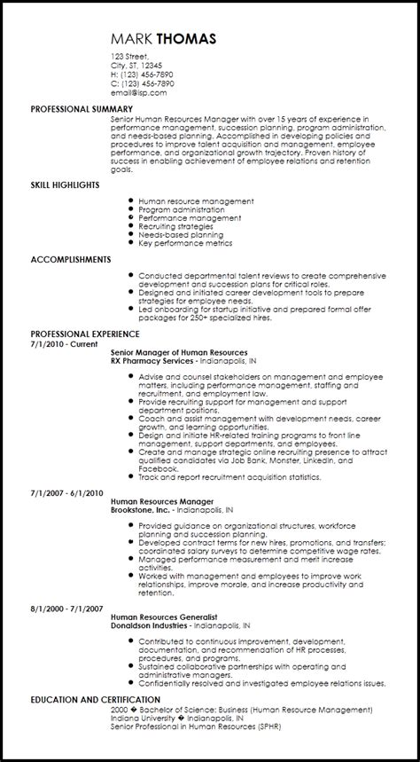 Hr Resume Template by Free Creative Hr Resume Templates Resume Now