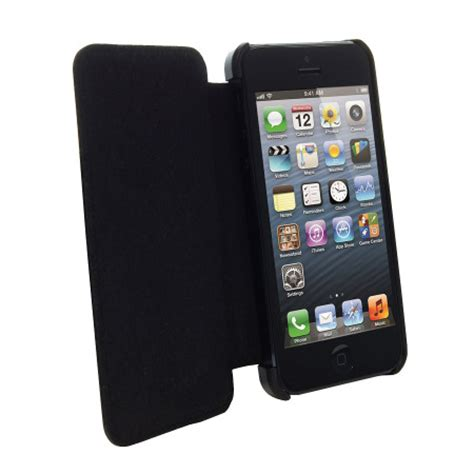 Tech21 Impact Snap Case With Cover For Iphone 5 Black