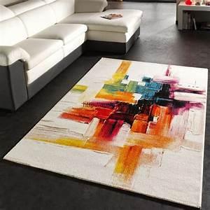 Tapis Salon Design : promotion tapis modernes pas cher pour salon tapis discount ~ Melissatoandfro.com Idées de Décoration