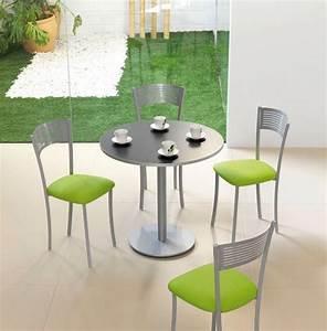 Table draco chaises couleur inox et vert cuisine for Salle À manger contemporaineavec chaise cuisine couleur