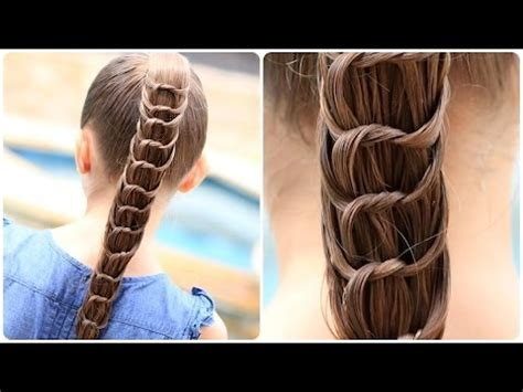 create  knotted ponytail cute hairstyles youtube