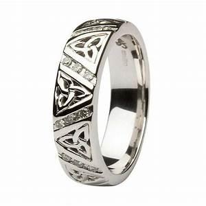 ladies diamond wedding ring with trinity knots With trinity knot wedding rings