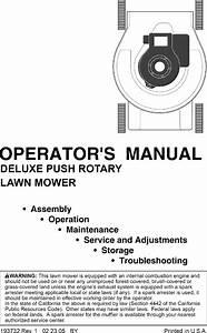 Ryobi 96116000200 User Manual Mower Manuals And Guides