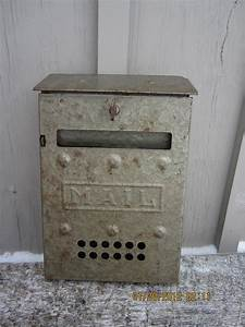 Vintage metal wall mailbox mail letters retro by westofchelsea for Metal mailbox letters