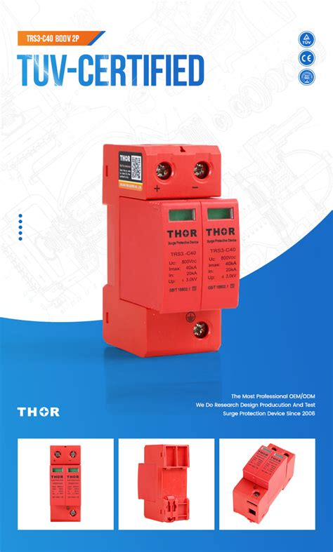 surge protection pv device power protector solar 800v