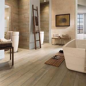 Salle De Bain En Bois : parquet bois salle de bain le bois chez vous ~ Teatrodelosmanantiales.com Idées de Décoration