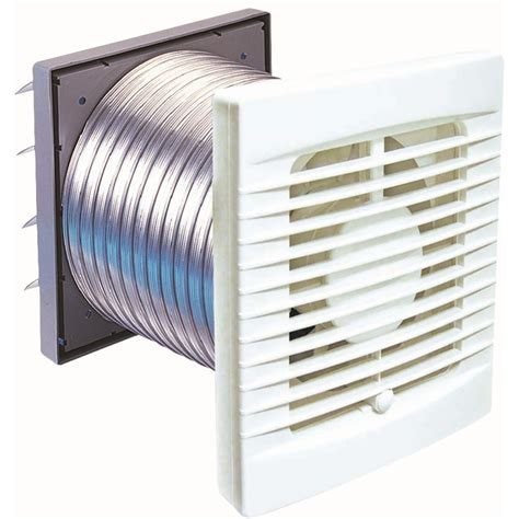 Exhaust Fans For Bathrooms Bunnings by Manrose Wall Exhaust Fan Kit 120mm White Bunnings Warehouse