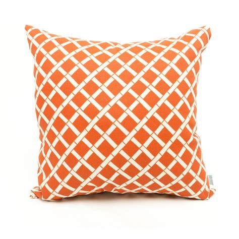 home goods pillows shop majestic home goods burnt orange bamboo geometric