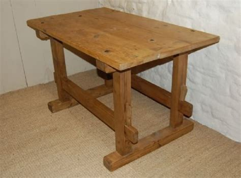 antique kitchen island table antique country pine trestle table kitchen table island table 163470 sellingantiques co uk
