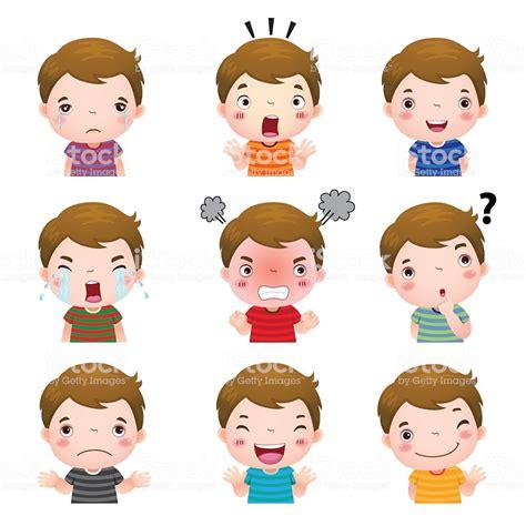 www emotion de 귀여운 남자아이 얼굴 표시중 다른 감정을 감정에 대한 스톡 벡터 아트 및 기타 이미지 istock