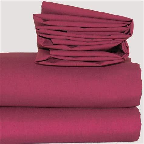 Plain Burgundy Polycotton Bed Linen  Hotel Supplies Out