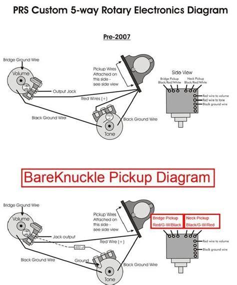 Rotary Switch Wiring Diagram Telecaster by Bareknuckle Prs 5 Way Wiring Help Harmony