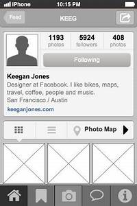 Instagram Profile Page mobile UI design pattern. Good for ...