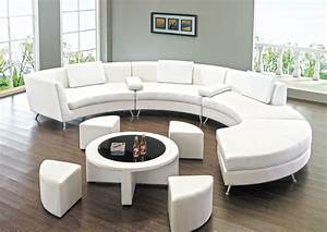 Round sectional sofa for unique seating alternative for Round coffee table with sectional sofa