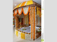 A Kerala Wedding Flower Decoration Editorial Stock Image