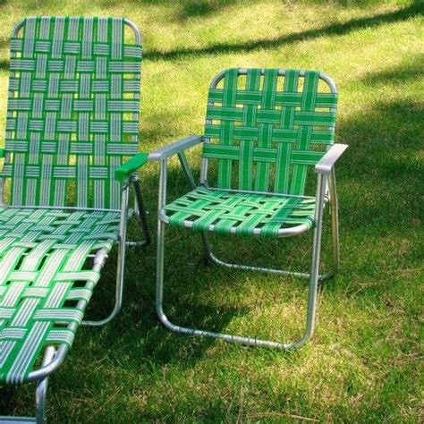Lawn Chairs For Sale by Vintage Webbed Lawn Chair Folding Aluminum Bright