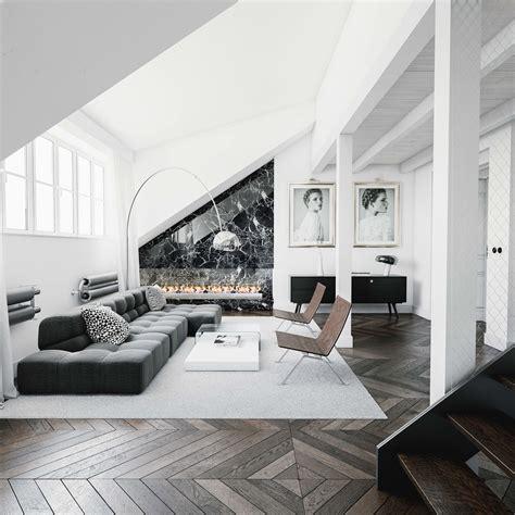 black white living rooms  work  monochrome magic