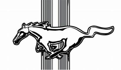 Mustang Ford Clip Clipart Mustangs Horse Convertible
