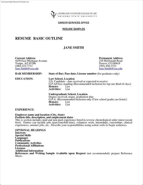 Basic Resume Template by Basic Resume Template Australia Free Sles Exles