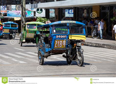 philippine motorcycle taxi tricycle motor taxi philippines editorial stock photo