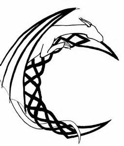 Dragon Tattoo Outline