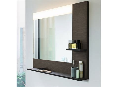 Bathroom Mirror With Shelf And Light by Wall Mounted Bathroom Mirror With Integrated Lighting Vero