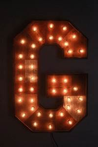 Reclaimed wood marquee letters w lights shabby chic for B marquee letter