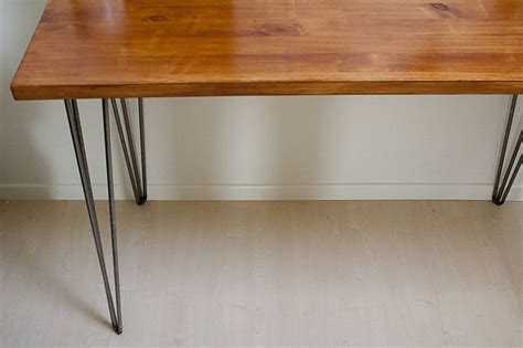 diy desk with hairpin legs diy desk hairpin legs pinned separately and wood from
