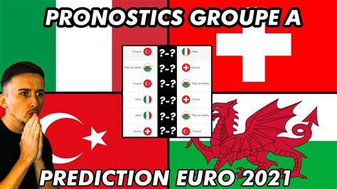 Les italiens meilleurs dans tous les compartiments de jeu ont logiquement gagné sans trembler et sans concéder de véritables occasions. PRONOSTIC EURO 2020 : GROUPE A ! Qui va se qualifier ...